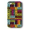 "Coque Akashi Apple iPhone 4 / 4S ""4 cities"" + protection écran"