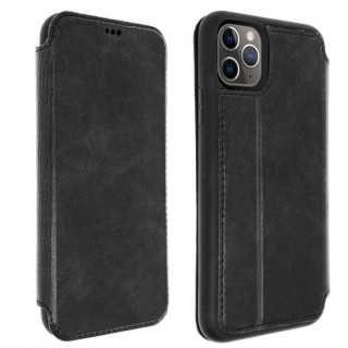 Etui Cuir Folio Apple iPhone 11 Pro Akashi Noir Vintage