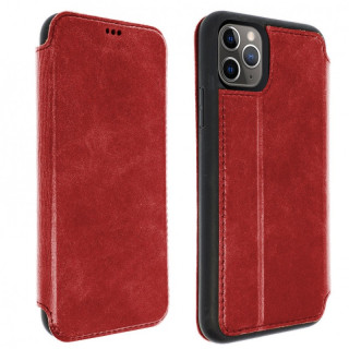 Etui Cuir Folio Apple iPhone 11 Pro Akashi Rouge Vintage