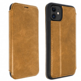 Etui Cuir Folio Apple iPhone 11 Akashi Marron Vintage