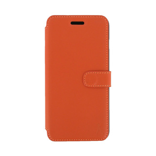 Etui Cuir Folio Apple iPhone 6/6s Akashi Orange Vintage