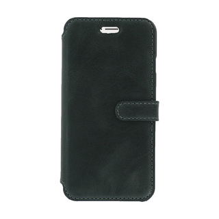 Etui Cuir Folio Apple iPhone 6/6s Akashi Noir Vintage
