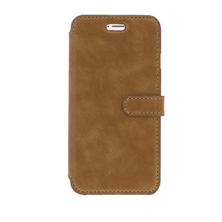 Etui Cuir Folio Apple iPhone 6/6s Akashi Marron Clair Vintage