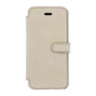 Etui Cuir Folio Apple iPhone 7 Plus/8 Plus Akashi Crème Vintage