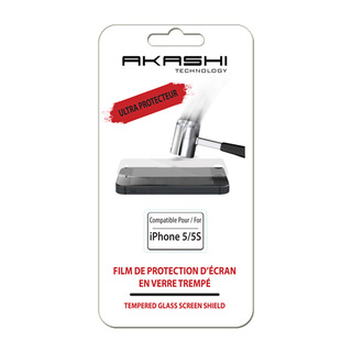 Vitre de Protection Ecran iPhone 5/5S/SE Akashi