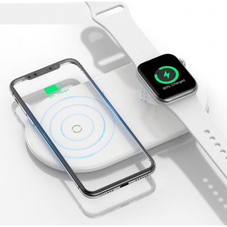 Chargeur Induction Double Smartphone / Apple Watch Baseus Blanc
