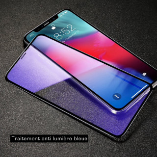Vitre Protection Ecran iPhone XS Max Curve Anti Blue Light Baseus