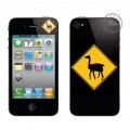 "Sticker Coovz de personnalisation pour iPhone 3G & 3GS""Road Sign 3"""