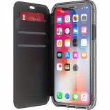 Etui Antichoc Apple iPhone XS/X Folio Survivor Clear Wallet Griffin