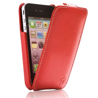 "Etui Rabat Apple iPhone 4/4S Issentiel ""Prestige"" Ultra mince Rouge"