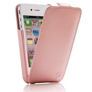 "Etui Rabat Apple iPhone 4/4S Issentiel ""Prestige"" Ultra mince Rose"