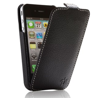 "Etui Rabat Apple iPhone 4/4S Issentiel ""Prestige"" Ultra mince Ebène Grainé"