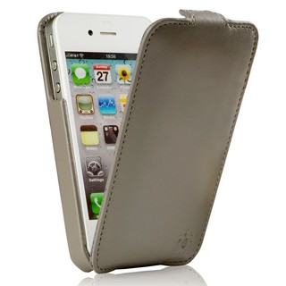"Etui Rabat Apple iPhone 4/4S Issentiel ""Prestige"" Ultra mince Gris"