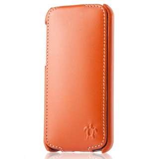 "Etui Rabat Apple iPhone 5C Issentiel ""Prestige"" Ultra mince Orange/Blanc"
