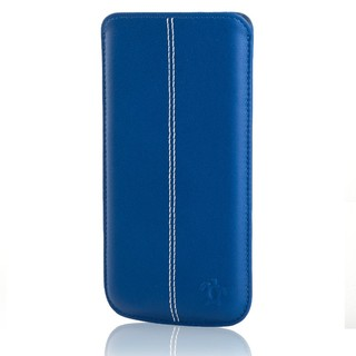 Étui Cuir iPhone 6/6s/7 Issentiel Allure Bleu Royal