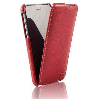 Etui Cuir Apple iPhone 6/6s Issentiel Prestige Ultra Mince Rouge Grainé