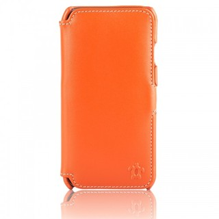 Etui Cuir Apple iPhone 6/6s Issentiel Portfolio Orange/Blanc