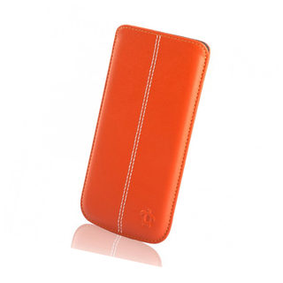 Étui Cuir iPhone 6 Plus/6s Plus/7 Plus/8 Plus Issentiel Allure Orange