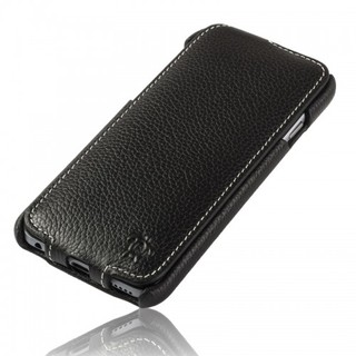 Etui Cuir Apple iPhone 6 Plus/6s Plus Issentiel Prestige Ultra Mince Noir Grainé
