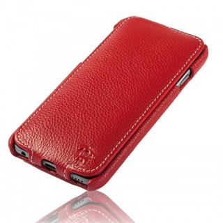Etui Cuir Apple iPhone 6 Plus/6s Plus Issentiel Prestige Ultra Mince Rouge Grainé