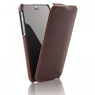 Etui Cuir Apple iPhone 6 Plus/6s Plus Issentiel Prestige Ultra Mince Chocolat/Camel