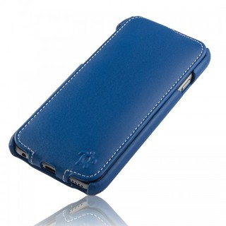 Etui Cuir Apple iPhone 6 Plus/6s Plus Issentiel Prestige Ultra Mince Bleu Royal