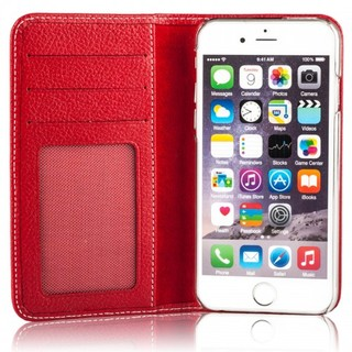 Etui Cuir Apple iPhone 6/6s Issentiel Exclusive Rouge Grainé