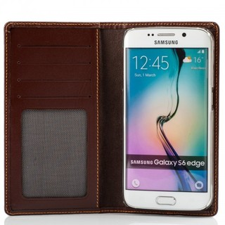 Etui Cuir Samsung Galaxy S6 EDGE Issentiel Exclusive Chocolat