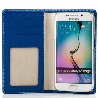 Etui Cuir Samsung Galaxy S6 EDGE Issentiel Exclusive Bleu Royal