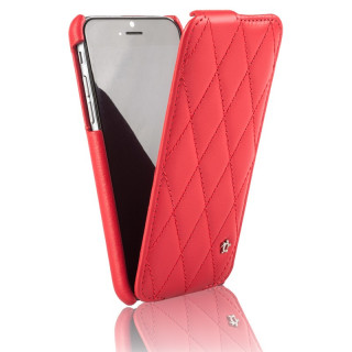 Etui Cuir Apple iPhone 7 Issentiel Cosy Rouge