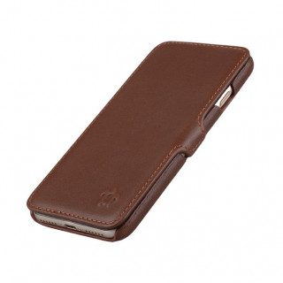 Etui Cuir Apple iPhone 7/8 Issentiel Premium Portfolio Chocolat