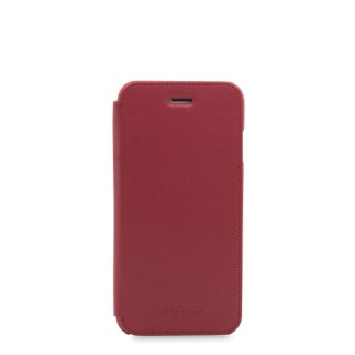 Etui Folio Cuir iPhone 7/8 Knomo Rouge