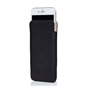 Etui Cuir Slim iPhone 6 Plus/6s Plus Knomo Noir