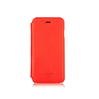 Etui Folio Cuir iPhone 6/6s Knomo Rouge
