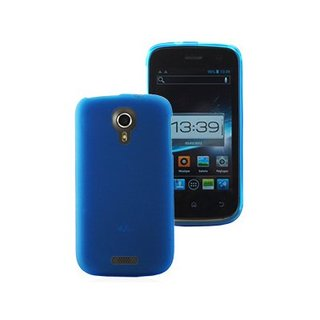 Coque Gel Wiko Cink Five Bleue