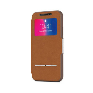 Etui iPhone XS/X SenseCover Moshi Marron