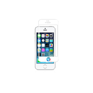 Protection Ecran iPhone 5/5S/SE/5C iVisor Glass Blanc Moshi