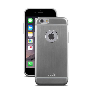 Coque iPhone 6/6s iGlaze Armour Aluminium Noir Moshi