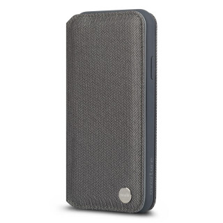 Etui Portefeuille iPhone XS Max Overture Moshi Gris Chevron