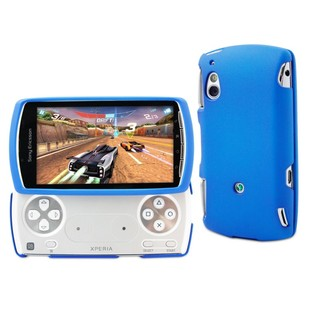 "Coque arrière Sony Ericsson Xperia Play ""Gomme"" Bleue"