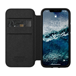 Etui Cuir Apple iPhone 12 Mini Nomad Rugged Folio Black