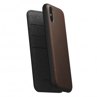 Etui Cuir Apple iPhone XS/X Nomad Rugged Folio Marron