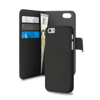 Etui Apple iPhone 5/5S/SE Puro Portfolio Détachable Noir