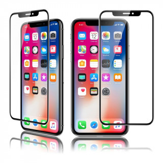 Vitre Protection Ecran iPhone X Optiguard Glass Curve Noir QDOS