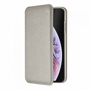 Etui Cuir Portefeuille Apple iPhone XS/X QDOS Milano Taupe