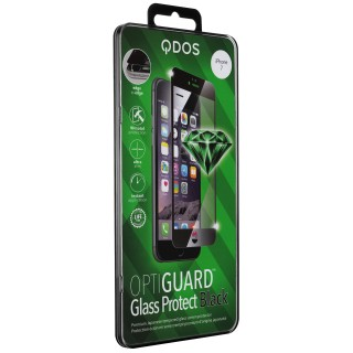 Vitre Protection Ecran iPhone 7/8 Optiguard Glass Noir QDOS
