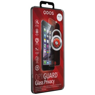 Vitre Protection Ecran iPhone SE (2020)/8/7/6s/6 Optiguard Glass Privacy QDOS