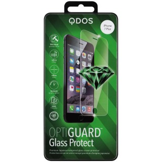 Vitre Protection Ecran iPhone 7 Plus/8 Plus Optiguard Glass Clear QDOS