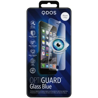 Vitre Protection Ecran iPhone 7 Plus/8 Plus Optiguard Glass Blue Light QDOS