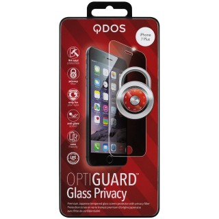 Vitre Protection Ecran iPhone 6 Plus/6s Plus/7 Plus/8 Plus Optiguard Glass Privacy QDOS